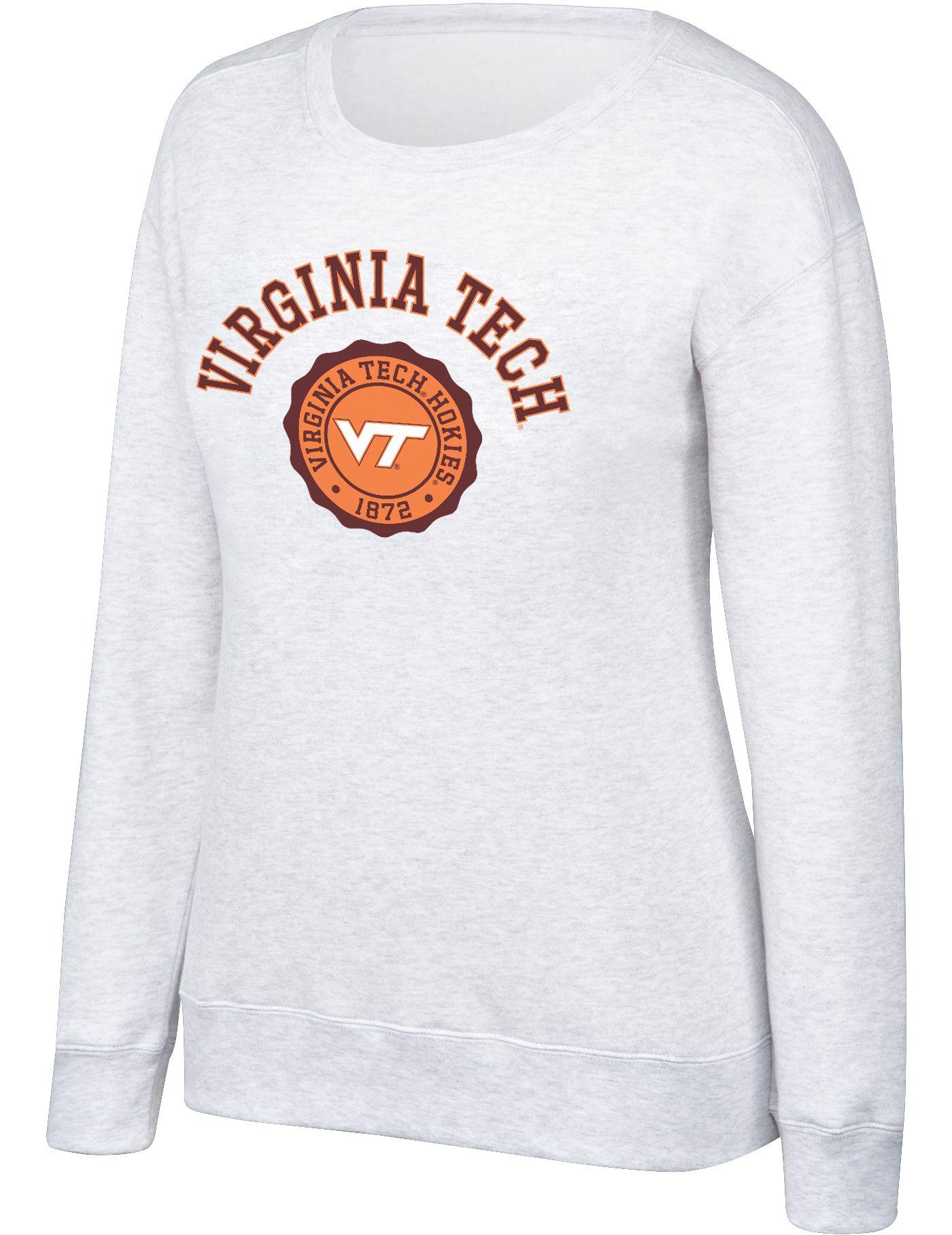 Top of the World Women's Virginia Tech Hokies Grey Essential Crew Neck Sweatshirt