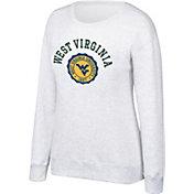 Top of the World Women's West Virginia Mountaineers Grey Essential Crew Neck Sweatshirt