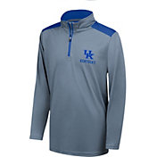 Top of the World Youth Kentucky Wildcats Grey Get Going Quarter-Zip Shirt