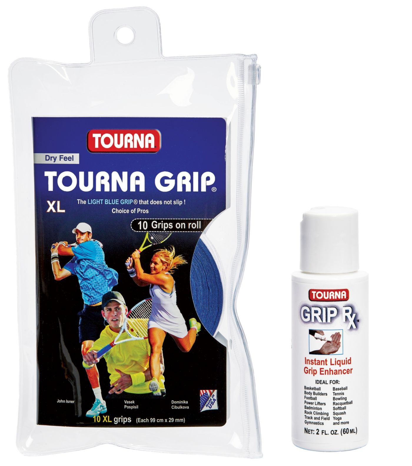 Tourna Grip Bundle XL with Grip-RX - 10 pack