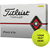 Titleist 2019 Pro V1x Optic Yellow Personalized Golf Balls