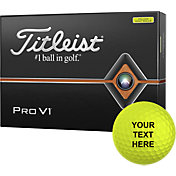 Titleist 2019 Pro V1 Optic Yellow Personalized Golf Balls