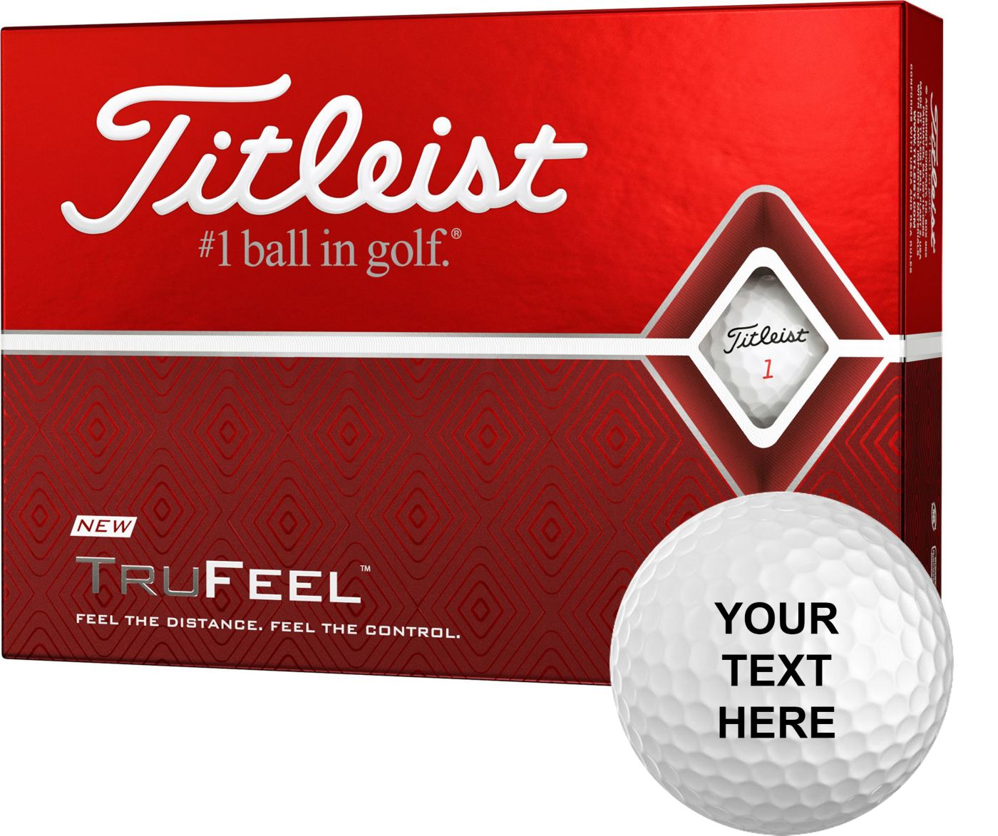 Titleist 2019 TruFeel Personalized Golf Balls