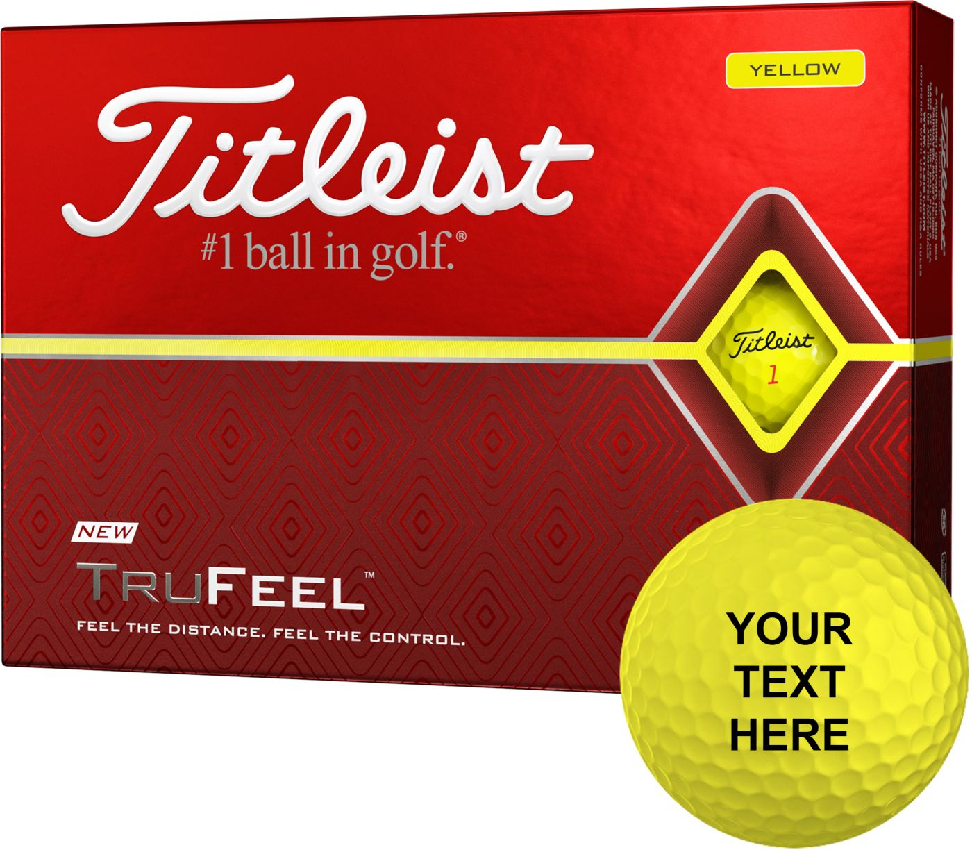 Titleist 2019 TruFeel Yellow Personalized Golf Balls