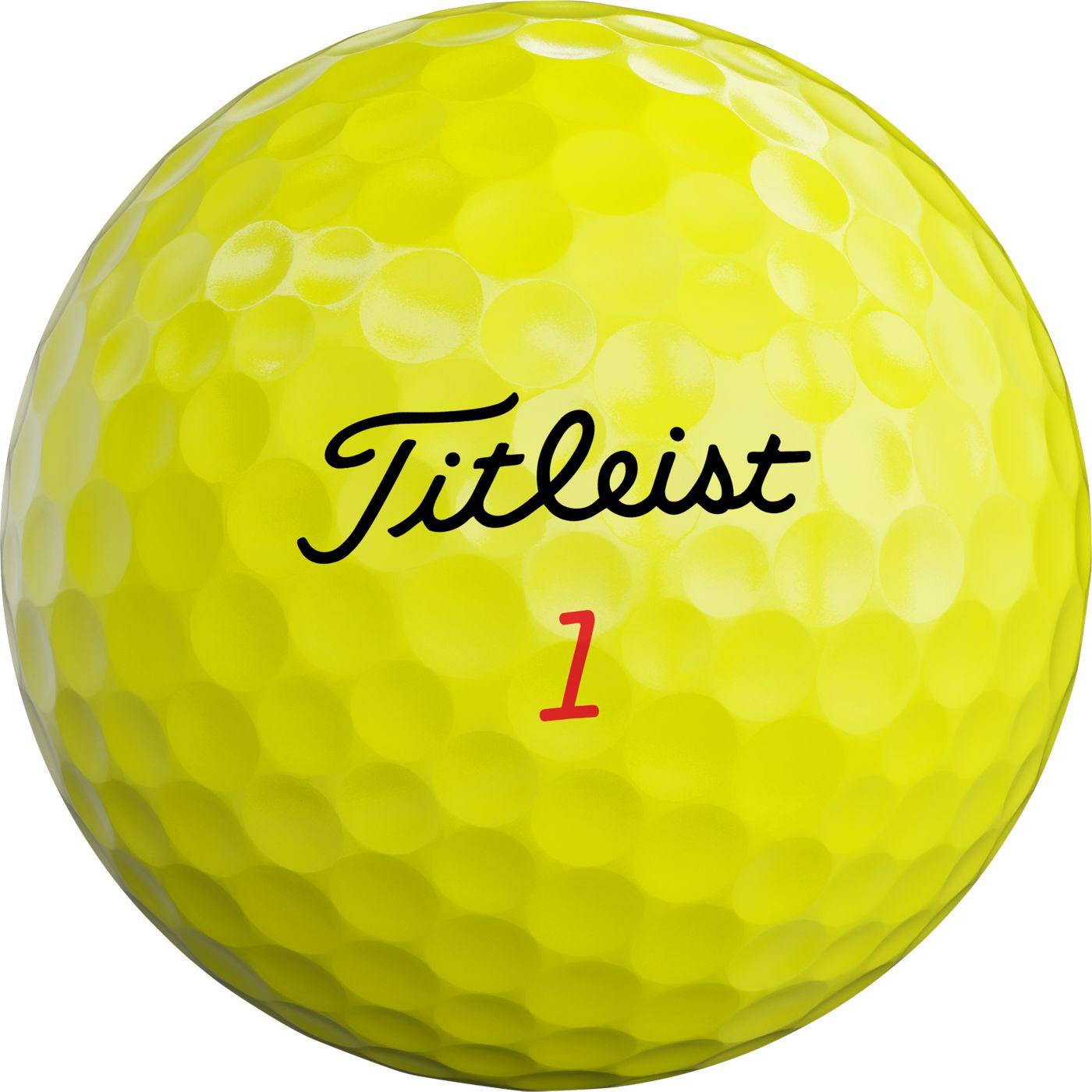 Titleist 2019 TruFeel Yellow Golf Balls