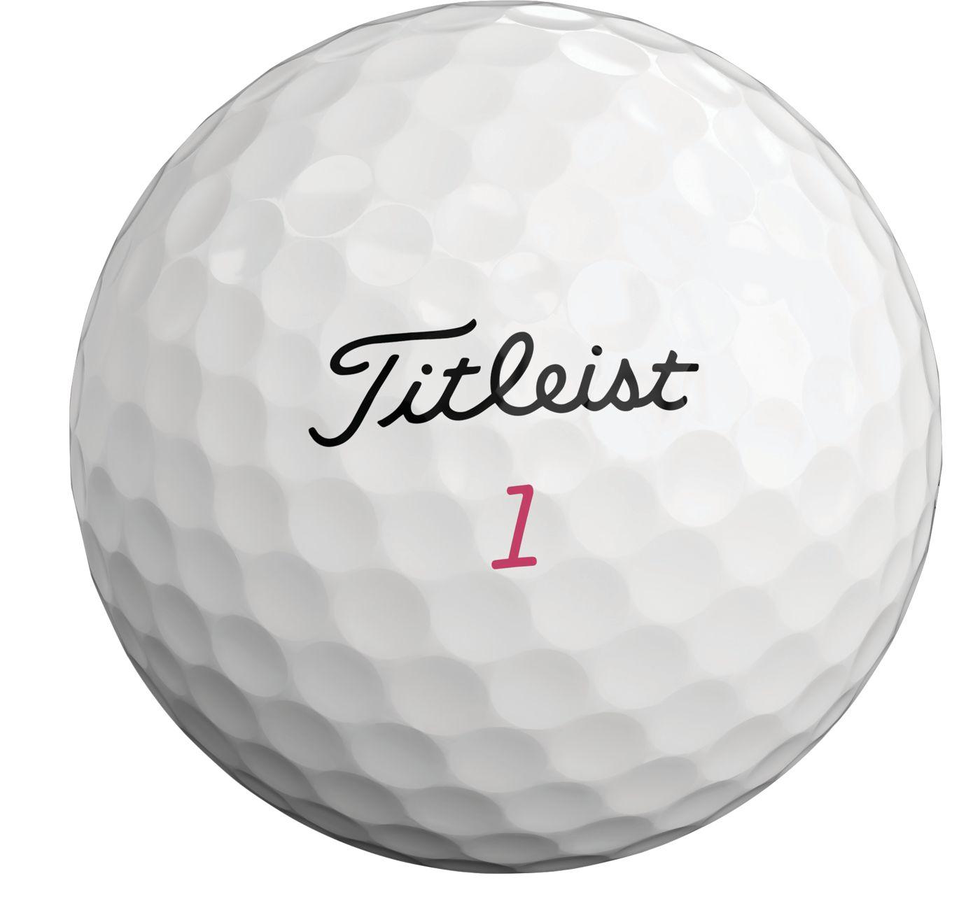 Titleist 2019 Pro V1 Pink Number Golf Balls