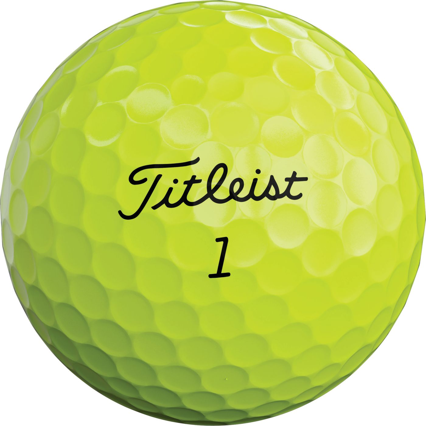 Titleist 2020 AVX Optic Yellow Golf Balls