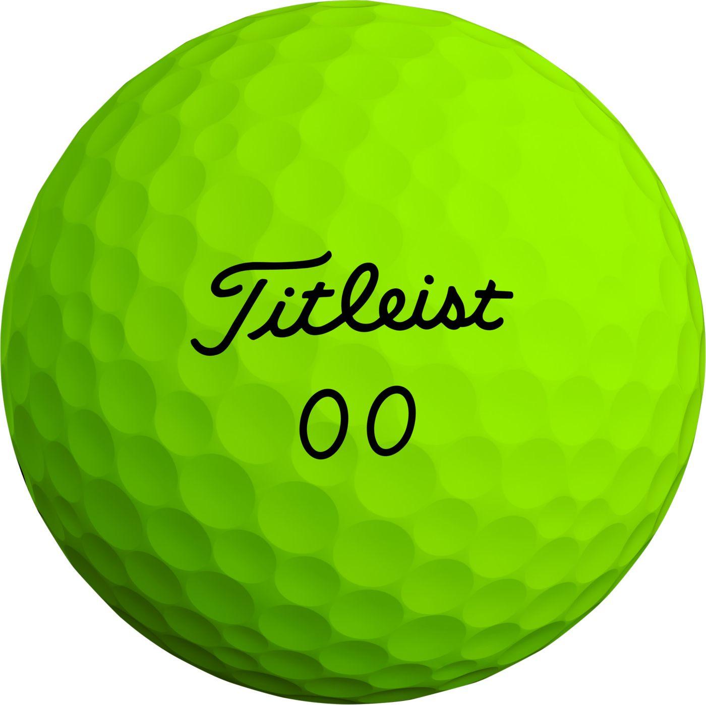 Titleist 2020 Velocity Double Numbers Matte Green Golf Balls