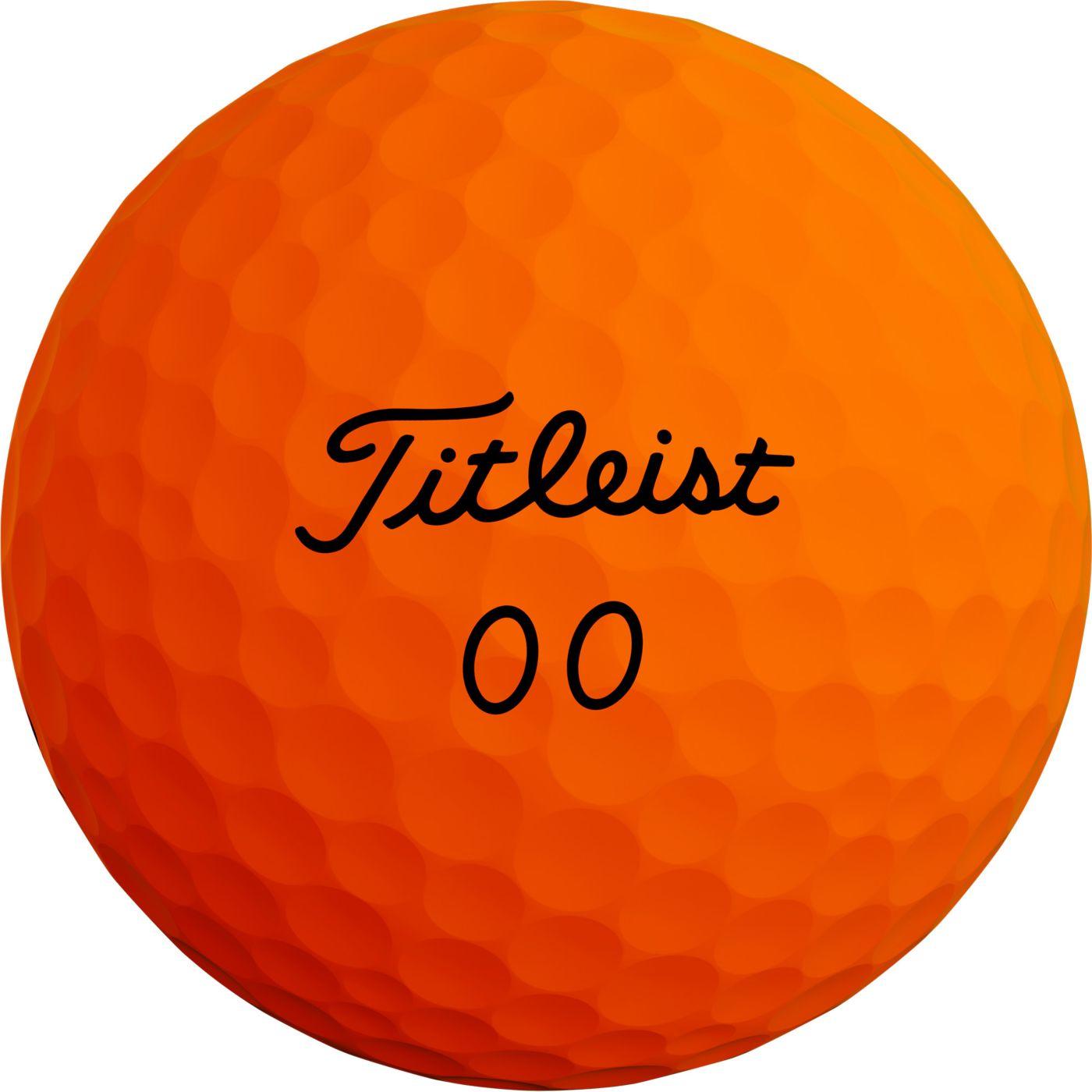 Titleist 2020 Velocity Double Numbers Matte Orange Golf Balls