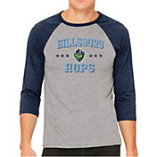 The Victory Men's Hillsboro Hops Raglan Three-Quarter Sleeve Shirt