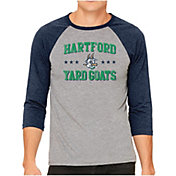 The Victory Men's Hartford Yard Goats Raglan Three-Quarter Sleeve Shirt