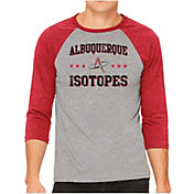The Victory Men's Albuquerque Isotopes Raglan Three-Quarter Sleeve Shirt