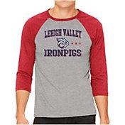 The Victory Men's Lehigh Valley Ironpigs Raglan Three-Quarter Sleeve T-Shirt