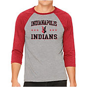 The Victory Men's Indianapolis Indians Raglan Three-Quarter Sleeve Shirt