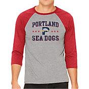 The Victory Men's Portland Sea Dogs Raglan Three-Quarter Sleeve Shirt