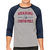 The Victory Men's Reading Fightin Phils Raglan Three-Quarter Sleeve Shirt