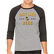 The Victory Men's Salt Lake Bees Raglan Three-Quarter Sleeve Shirt