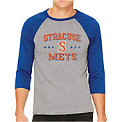 The Victory Men's Syracuse Mets Raglan Three-Quarter Sleeve Shirt