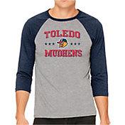 The Victory Men's Toledo Mud Hens Raglan Three-Quarter Sleeve Shirt