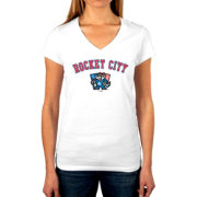 The Victory Women's Rocket City Trash Pandas V-Neck T-Shirt