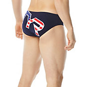 TYR Men's Big Logo USA Racer Swim Brief