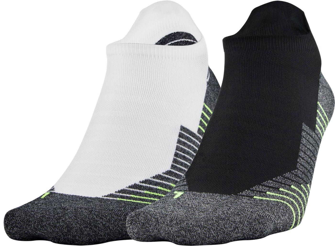Under Armour Run 2.0 No Show Tab Socks - 2 Pack