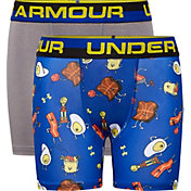 Under Armour Boys' Morning Champ Boxers Briefs – 2 Pack