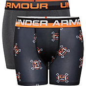 Under Armour Boys' Football X Bones Boxers Briefs – 2 Pack
