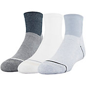 Under Armour Boys' Phenom Quarter Sock 3 Pack