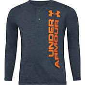 Under Armour Little Boys' Boost Henley Long Sleeve Shirt