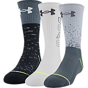Under Armour Boy's Phenom Crew Socks - 3 Pack