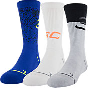 Under Armour Boy's Crew Socks - 3 Pack