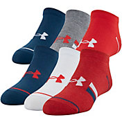 Under Armour Boys' Essential Lite Low Cut Socks - 6 Pack