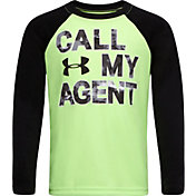 Under Armour Little Boys' Call My Agent Raglan Long Sleeve Shirt