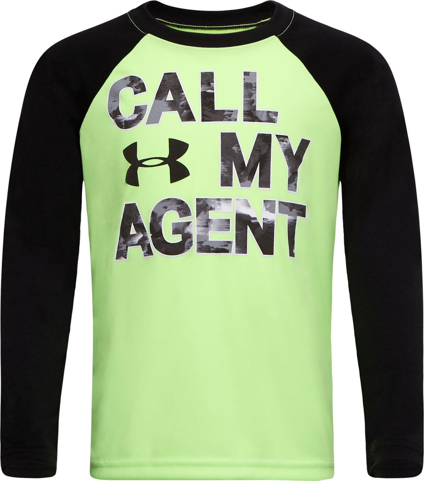 Under Armour Little Boys' Call My Agent Raglan Long Sleeve Shirt