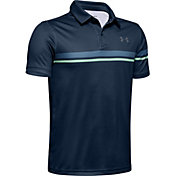 Under Armour Boys' Chest Stripe Vanish Golf Polo