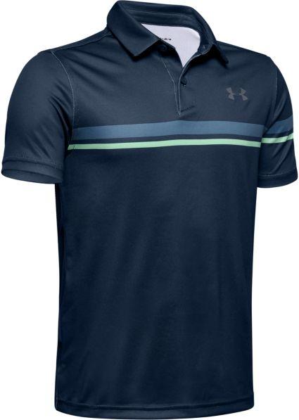 Under Armour Boys' Chest Stripe Vanish Golf Polo