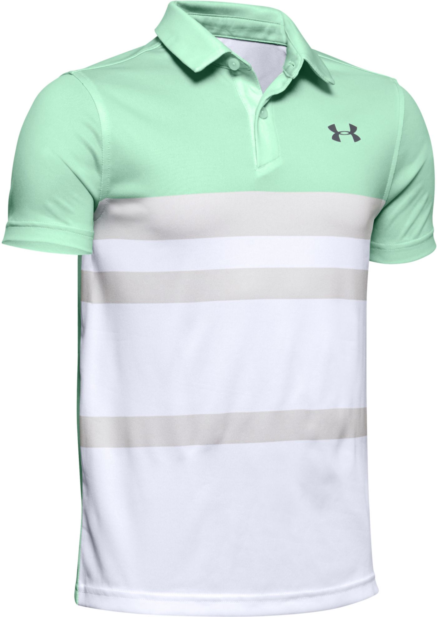 Under Armour Boys' Bold Stripe Vanish Golf Polo