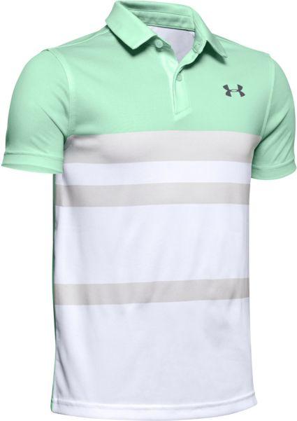 Under Armour Boys' Bold Stripe Vanish Golf Polo