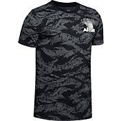 Under Armour Boys' All Over Print Camo Basketball T-Shirt