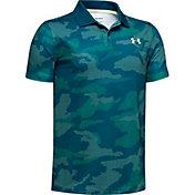 Under Armour Boys' Performance 2.0 Camo Golf Polo