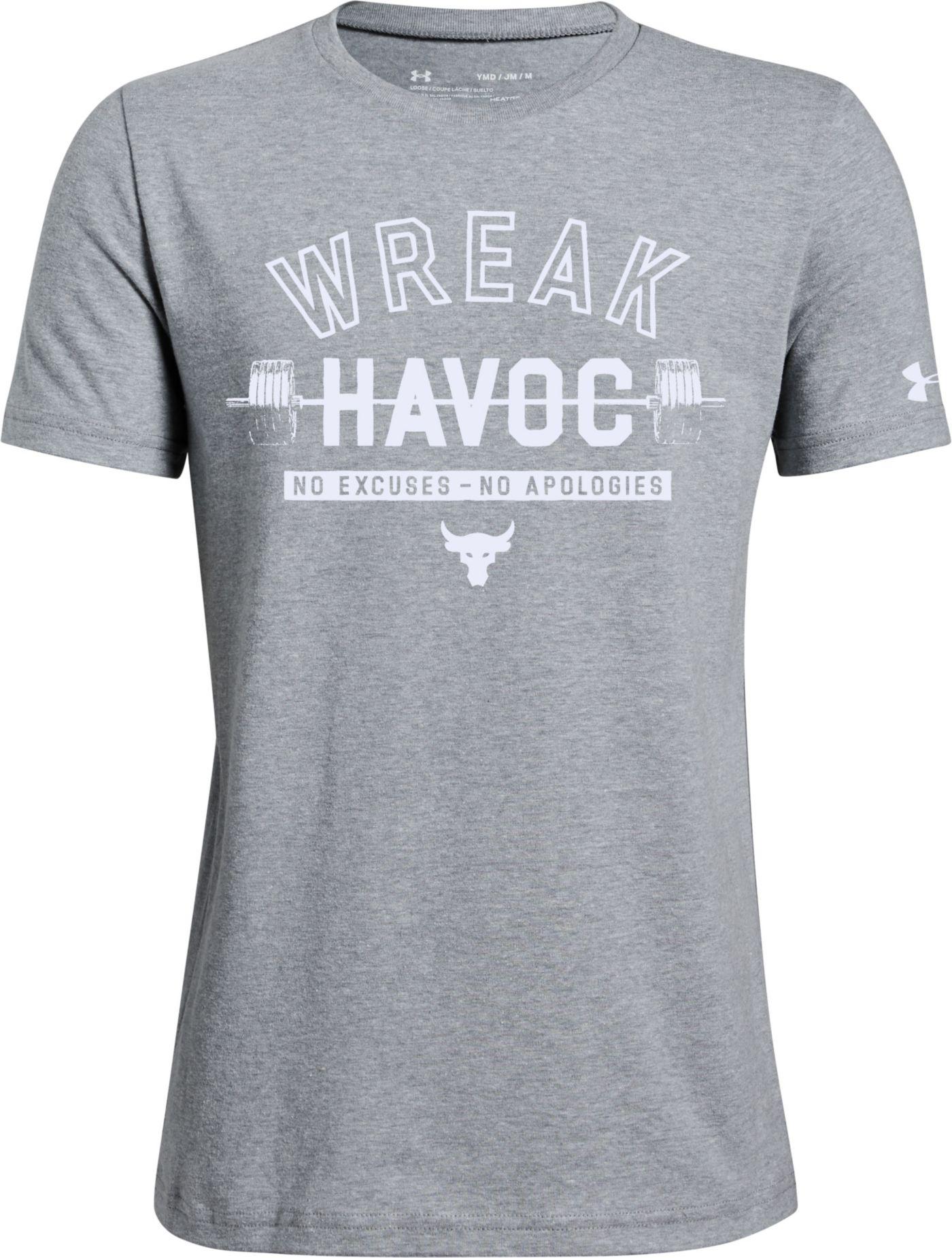 Under Armour Boys' Project Rock Wreak Havoc Graphic T-Shirt