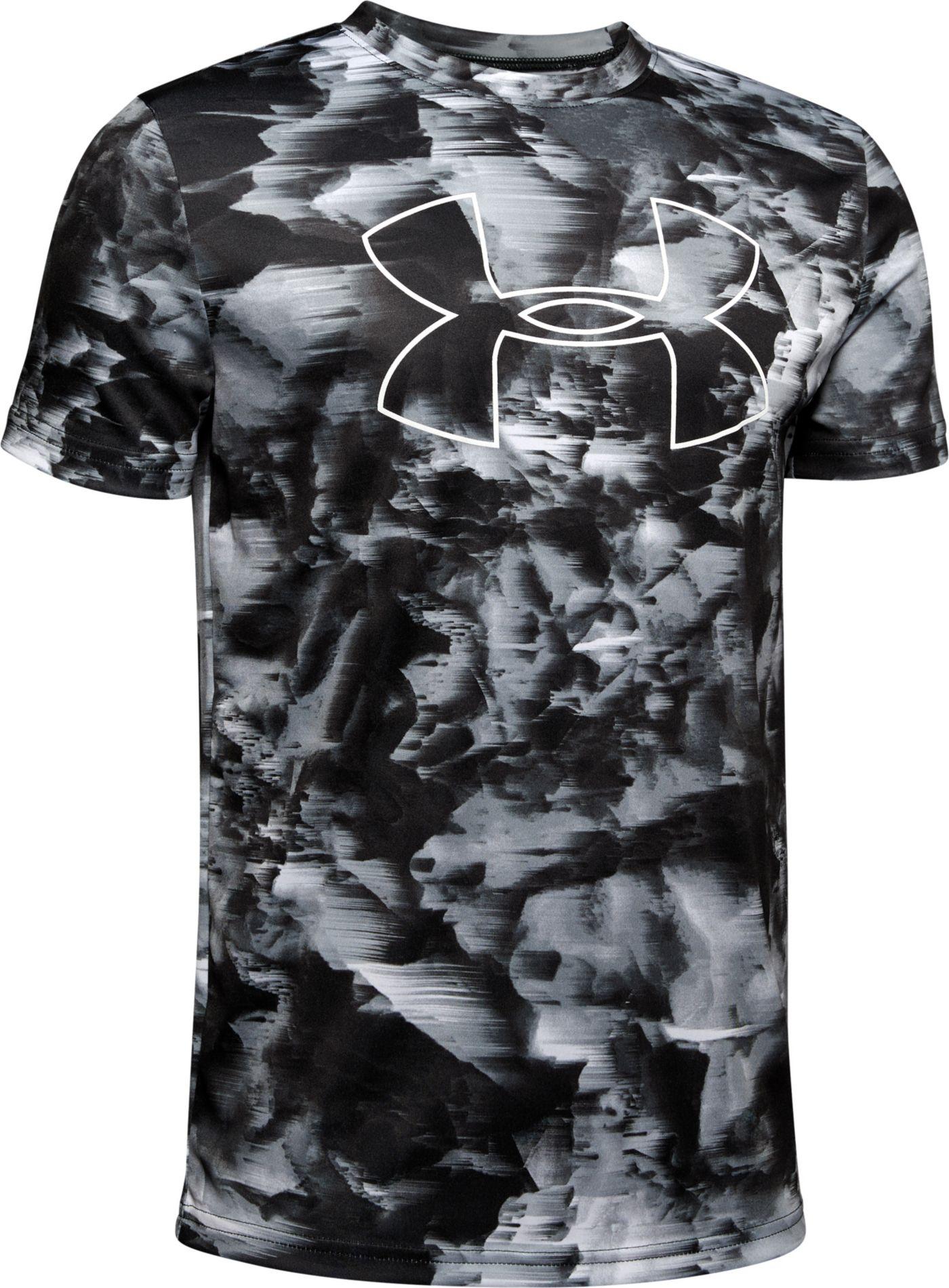 Under Armour Boy's Printed Big Logo T-Shirt