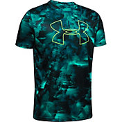 Under Armour Boy's Printed Big Logo T-Shirt