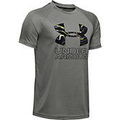 Under Armour Boys' Tech Hybrid Print Fill T-Shirt