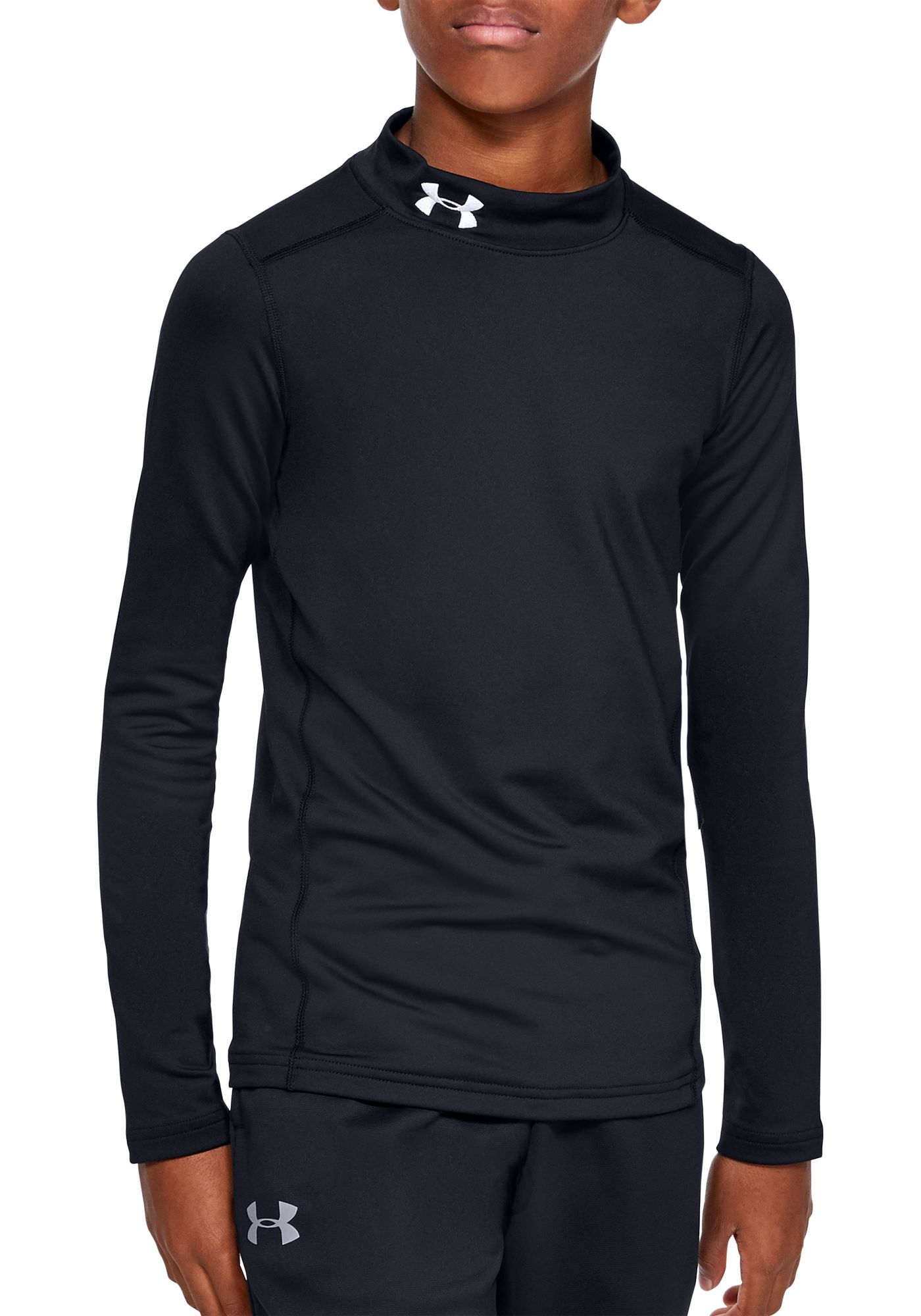 Under Armour Boy's ColdGear Mock Neck Long Sleeve Shirt