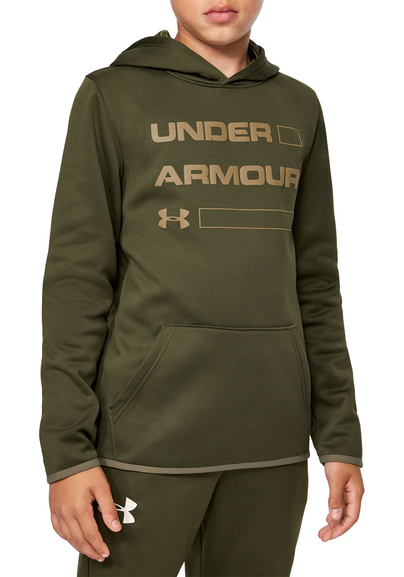 Under Armour Boy's Armour Fleece Wordmark Hoodie