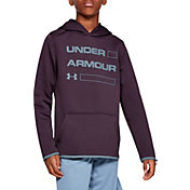 Under Armour Boy's Armour Fleece Wordmark Hoodie