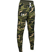 Under Armour Boy's Rival Printed Camo Joggers