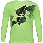 Under Armour Little Boys' Slash Logo Graphic Long Sleeve Shirt